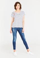 JEEP - Stripe t-shirt - navy & white