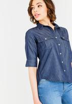 JEEP - Denim shirt - blue
