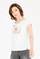 JEEP - Print and foil T-shirt - neutral