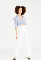STYLE REPUBLIC - Highwaisted smart pants off - white