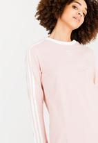 adidas Originals - 3 Stripes long sleeve tee - pink
