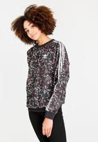 8124dbb3e7f3 Floral print detail sweatshirt - black adidas Originals Hoodies ...