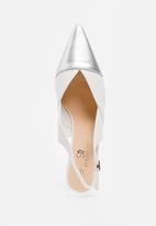 STYLE REPUBLIC - Metallic Toe Cap Courts White