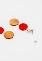 STYLE REPUBLIC - Beaded earrings - red