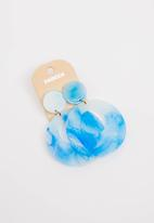 STYLE REPUBLIC - Hoop Earrings Blue