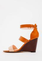 POLO - Alexis pop contrast wedges - tan