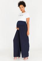 edit Maternity - Wide Leg Maternity Pants Navy