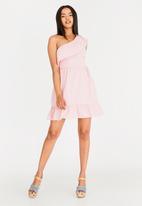 Vero Moda - Sia off the shoulder dress - pink
