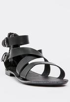 edit - Gladiator sandal - black