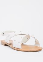 STYLE REPUBLIC - Studded double band sandal - white