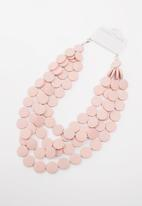 STYLE REPUBLIC - Flat beaded necklace - pink