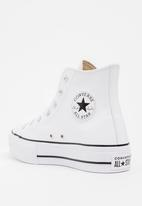 Converse - Chuck Taylor All Star Lift Clean - Hi  - White - Leather