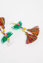 STYLE REPUBLIC - Crochet detail tassel earrings - multi