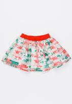 MINOTI - Tropicana AOP Organza Stripe Skirt Multi-colour