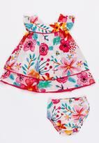 MINOTI - Bee 2 piece AOP woven dress & bloomer set - multi-colour