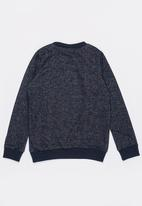 name it - Long Sleeve Frilled Sweat Top Navy