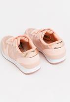 Awol - Girls metallic camo sneaker - pink