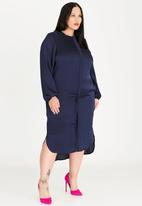 RUFF TUNG - Zip Shirt Dress Navy