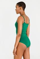 c(inch) - Strap Detail Bodysuit Green