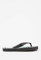 POP CANDY - Shark print flip flops - black
