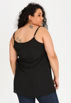 STYLE REPUBLIC PLUS - Longer length cami - black