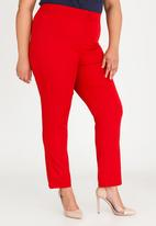 STYLE REPUBLIC PLUS - High waisted smart pants - red
