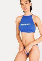 Lithe - High Neck Bikini Top Cobalt