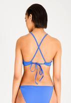 Lithe - Strappy bikini bottom - blue