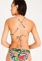 Lithe - High neck bikini top - multi-colour