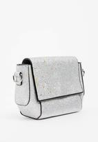 POP CANDY - Glitter sling bag - silver