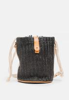 Joy Collectables - Woven Bucket Bag Black