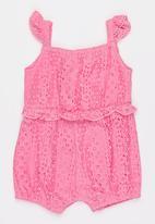 MINOTI - Bee Lace Jumpsuit Mid Pink