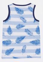 MINOTI - Maui AOP Striped Vest Blue and White