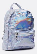 POP CANDY - Metallic backpack - silver