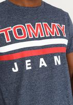 Tommy Hilfiger - Stripe Tee Black