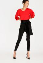 ERRE - Draped Sleeve Blouse Red