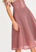 Sober - Amarylis high-waist corset skirt - pink