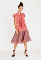 Sober - Fifi petal sleeve blouse - pink