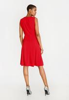 edit - Fit and flare dress - red