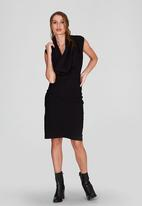 DAVID by David Tlale - Bella Sleeveless Cowl Neck Dress Black
