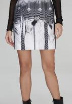 DAVID by David Tlale - Shumy Pencil Mini Skirt Mid Grey