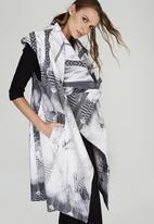 DAVID by David Tlale - Aya Sleeveless Coat Mid Grey