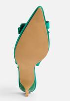 STYLE REPUBLIC - Satin Bow Slingback Green