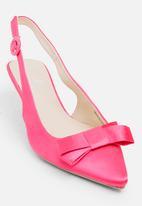 STYLE REPUBLIC - Satin Bow Slingback Dark Pink