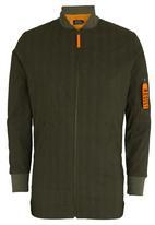 Resist - Longline Bomber Jacket Green