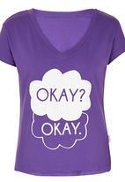 Precioux - Printed Tshirt Mid Purple