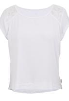 Precioux - Lace Detail Top White