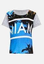 Twin Clothing - Miami Printed T-shirt Grey