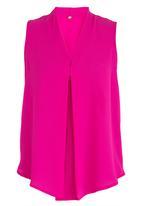 edit - V-Neckline Shell Top Mid Pink