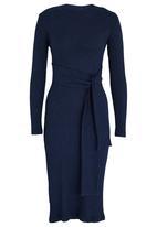STYLE REPUBLIC - Self-tie Bodycon Dress Navy
